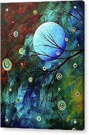 Blue Sapphire 1 By Madart Acrylic Print by Megan Duncanson