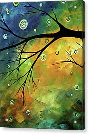 Blue Sapphire 2 By Madart Acrylic Print by Megan Duncanson