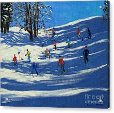 Blue Shadows Acrylic Print by Andrew Macara