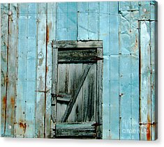 Blue Shed Door  Hwy 61 Mississippi Acrylic Print