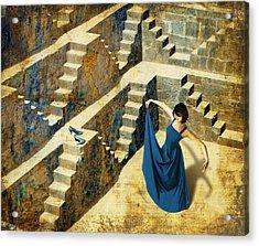 Blue Shoes Acrylic Print by Van Renselar