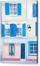 Blue Shutters Arles France Acrylic Print