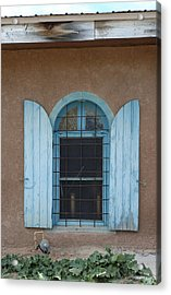 Blue Shutters Acrylic Print by Jerry McElroy