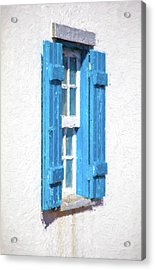 Blue Shutters Of Portugal Acrylic Print by David Letts