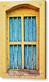Acrylic Print featuring the photograph Blue Shutters by Tim Gainey