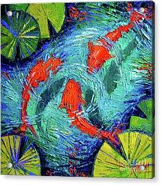 Blue Silence Acrylic Print by Mona Edulesco