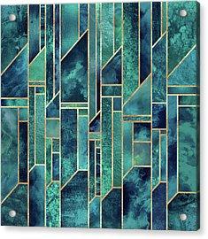 Blue Skies Acrylic Print by Elisabeth Fredriksson