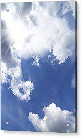 Blue Sky And Cloud Acrylic Print