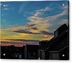 Blue Sky Colorful Sunset Acrylic Print by Cesar Vieira