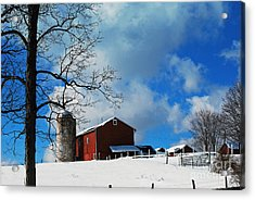 Acrylic Print featuring the photograph Blue Sky Farm by Lila Fisher-Wenzel