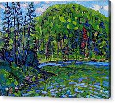 Blue Sky Greens Acrylic Print