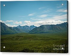 Blue Sky Mountians Acrylic Print
