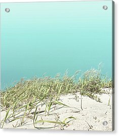 Acrylic Print featuring the photograph Blue Sky Over Sea Grass by Cindy Garber Iverson
