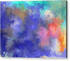 Blue Sky Painting Acrylic Print by Don  Wright