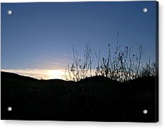 Acrylic Print featuring the photograph Blue Sky Silhouette Landscape by Matt Harang