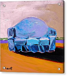 Acrylic Print featuring the painting Blue Slipcover by John Williams