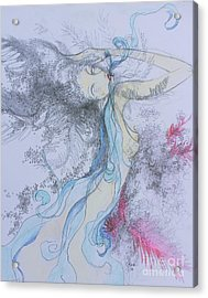 Blue Smoke And Mirrors Acrylic Print