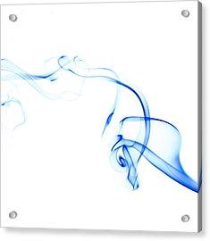 Blue Smoke Acrylic Print by Scott Norris