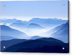 Blue Smoky Mountains Acrylic Print