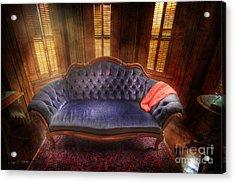Blue Sofa Den Acrylic Print