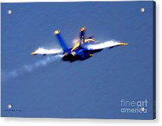 Acrylic Print featuring the photograph Blue Solo by Larry Keahey