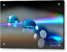 Acrylic Print featuring the photograph Blue Sparks by Sylvie Leandre