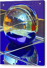 Acrylic Print featuring the digital art Blue Sphere by Jana Russon