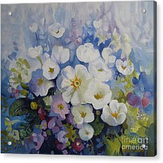 Acrylic Print featuring the painting Blue Spring by Elena Oleniuc