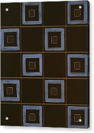 Blue Squares Acrylic Print by Sandy Bostelman
