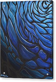 Blue Stained Glass Acrylic Print