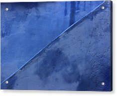 Acrylic Print featuring the photograph Blue Stairs In Profile by Ramona Johnston
