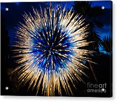 Blue Star At Night Acrylic Print