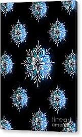 Blue Star Pysanky Acrylic Print