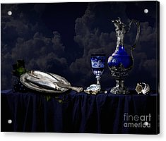 Still Life In Blue Acrylic Print