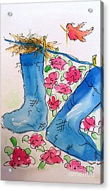Blue Stockings Acrylic Print