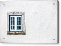 Blue Stone Window Of Obidos Acrylic Print