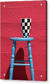 Blue Stool Acrylic Print by Garry Gay