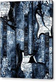 Blue Stratos Acrylic Print by Gary Bodnar
