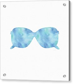 Blue Sunglasses 2- Art By Linda Woods Acrylic Print