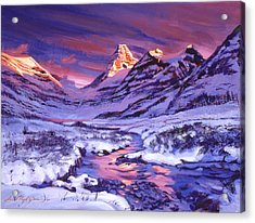 Blue Sunrise Acrylic Print by David Lloyd Glover