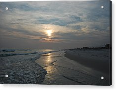 Blue Sunset Acrylic Print by Beverly Hammond
