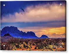 Blue Sunset Nm-az Acrylic Print