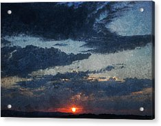 Blue Sunset Acrylic Print by Dorothy Berry-Lound