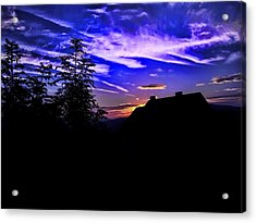 Acrylic Print featuring the photograph Blue Sunset In Poland by Mariola Bitner