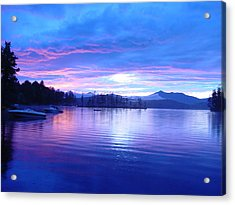 Blue Sunset Acrylic Print by Katherine Huck Fernie Howard