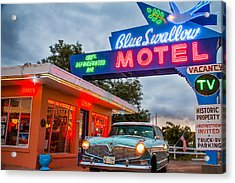 Blue Swallow Motel On Route 66 Acrylic Print