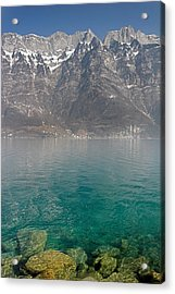 Blue Swiss Lagoon Acrylic Print by Pierre Leclerc Photography