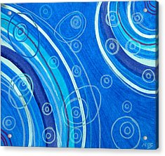 Blue Swril Number Seven Acrylic Print by Nina Bravo