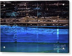 Blue Tanker Acrylic Print