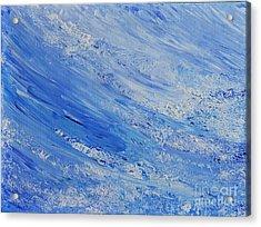 Blue Acrylic Print by Teresa Wegrzyn